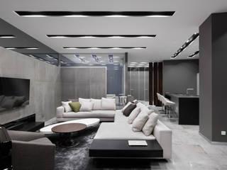 Номинация новаторство: интерьер квартиры от 150 м:  Living room by Archiprofi