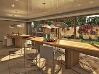 villa nel golf club Amelkis II, Marrakech: Cucina in stile in stile Moderno di studio associato AtelierArchitettura