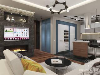 Ruang Keluarga Modern Oleh Мастерская дизайна Welcome Studio Modern