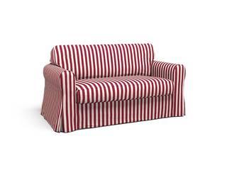 EKTORP 2 Sitzer Sofa Bezug   East Coast Red Vermont Stoff: Von CoverCouch