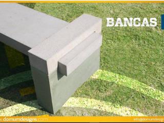 Bancas Domum JardínMobiliario Concreto