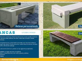 Bancas Domum Balcones y terrazasMobiliario Concreto