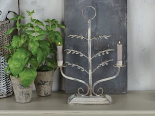 Leaf Candelabra:   by Dupere Interior Design