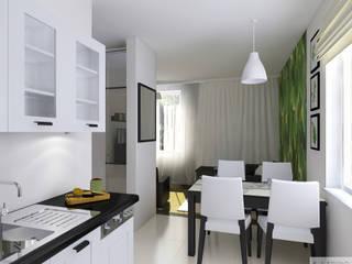 Mieszkanie 55m2 Oświęcim: styl , w kategorii  zaprojektowany przez K. J. Studio - Projektowanie i aranżacja wnętrz,