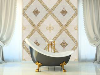 Elalux Tile Moderne badkamers Marmer Beige