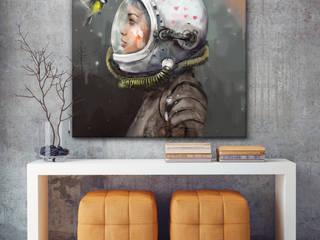 Obraz na płótnie 100x100 cm : styl , w kategorii  zaprojektowany przez KRZANOO ART' PRACOWNIA ARTYSTYCZNA