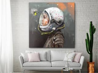 """Obraz na płótnie """"Uniwersum"""" 100x100 cm: styl , w kategorii  zaprojektowany przez KRZANOO ART' PRACOWNIA ARTYSTYCZNA"""