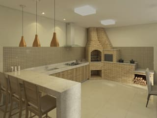 Filipe Castro Arquitetura | Design Kitchen Granite Beige