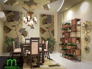 Living room, dining room:  غرفة السفرة تنفيذ EL Mazen For Finishes and Trims, حداثي