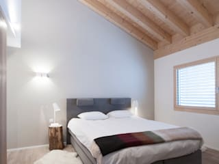 Rustic bedroom with a modern touch Mood Interieur 臥室 木頭 Grey
