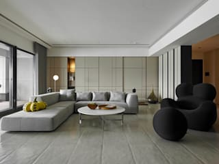Living room by 水相設計 Waterfrom Design,