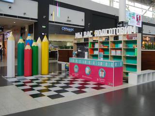 Инсталляция к 1 сентября для ТЦ МЕГА Детские комната в эклектичном стиле от Студия архитектуры и дизайна Вояджи Дарьи Эклектичный