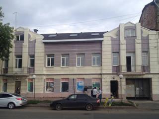 Фасад гостиницы LOFT до и после от Студия архитектуры и дизайна Вояджи Дарьи