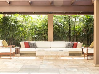 Balcon, Veranda & Terrasse tropicaux par Cecília Mesquita Arquitetura Tropical