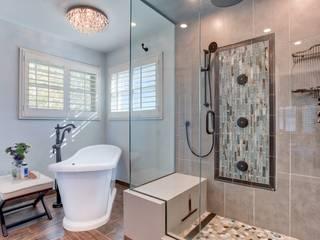 Country Estates Master Bath :  Steam Bath by Studio Design LLC