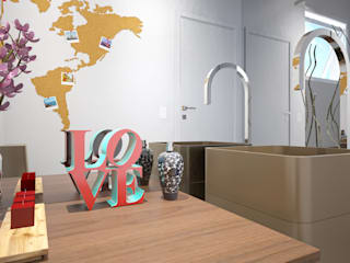 Eclectic style bathroom by KC ARQUITETURA urbanismo e design Eclectic