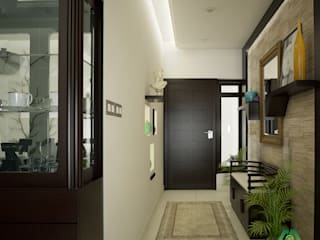 Fabulous Contemporary Design Modern corridor, hallway & stairs by Monnaie Architects & Interiors Modern