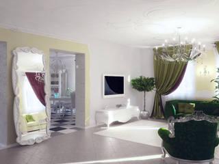 Eklektik Oturma Odası Студия дизайна интерьера 'Золотое сечение' Eklektik