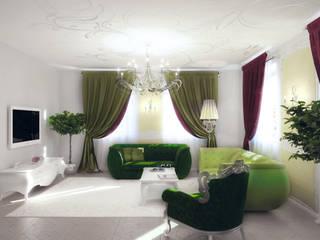 Дом для принцесс Гостиные в эклектичном стиле от Студия дизайна интерьера 'Золотое сечение' Эклектичный