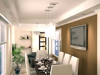 Dining room by G-R Arquitectura,