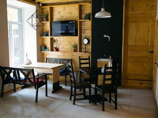 Бургерная Столовая комната в эклектичном стиле от Студия архитектуры и дизайна Вояджи Дарьи Эклектичный