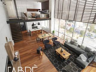 LOFT: Salas / recibidores de estilo  por FABRE STUDIO