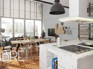 LOFT Cocinas de estilo moderno de FABRE STUDIO Moderno