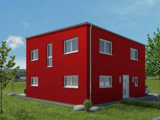 Fassadenplatten aus Alucobond: modern  von bauen.wiewir GmbH & Co KG,Modern