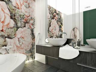 Łazienka w apartamencie / Katowice / 11m2: styl , w kategorii Łazienka zaprojektowany przez Laura Zubel Architekt Wnętrz
