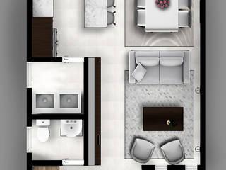 Pasillos y vestíbulos de estilo  por CDR CONSTRUCTORA, Moderno