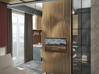 Интерьер Loft-квартиры в Астрахани: Гостиная в . Автор – Yurov Interiors,