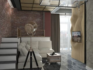 Living room by Yurov Interiors, Industrial Wood Wood effect