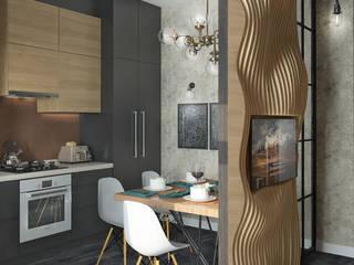 Интерьер Loft-квартиры в Астрахани: Кухни в . Автор – Yurov Interiors,