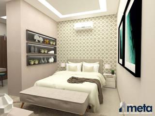 Suíte do Casal e Closet Quartos modernos por Grupo Meta | Arquitetura, Engenharia e Meio Ambiente Moderno