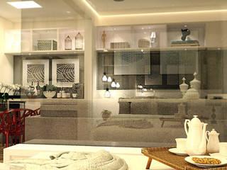 Apartamento Bela Vista Salas de estar modernas por Grupo Meta | Arquitetura, Engenharia e Meio Ambiente Moderno