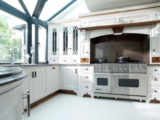 Light Grey Hand Painted Kitchen by Verdi Kitchens Classic Solid Wood Multicolored