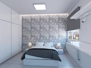 Infografías 3d de apartamento privado Salones de estilo moderno de A3D INFOGRAFIA Moderno