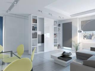 Salón_vista 1: Salones de estilo moderno de A3D INFOGRAFIA