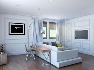 Salón_vista 1: Salones de estilo clásico de A3D INFOGRAFIA