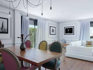 Salón_vista 2: Salones de estilo clásico de A3D INFOGRAFIA