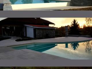 Piscina privata Piscina minimalista di Alessandra Vellata Architetto Minimalista