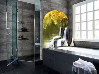 Fotoceramic Tropical style bathroom