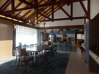 Casa em São Roque Cozinhas rústicas por RMS arquitetura e interiores Rústico