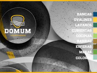 Bancas/ Ovalines/ Lavabos/ Cubiertas/ Cocinas/ Mesas / Esferas:  de estilo  por Domum