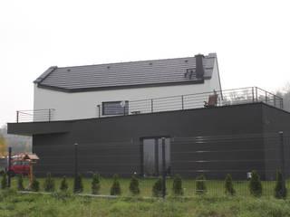 """budynek """" przycięty planem miejscowym """" - Ruda Śląska - realizacja 2016 Minimalistyczne domy od wytwornia tychy Minimalistyczny"""