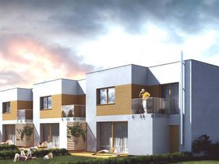 Zabudowa jednorodzinna, szeregowa Tychy Minimalistyczne domy od wytwornia tychy Minimalistyczny