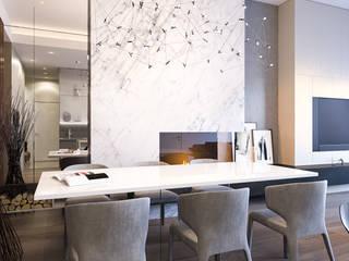Minimalist dining room by Kerimov Architects Minimalist