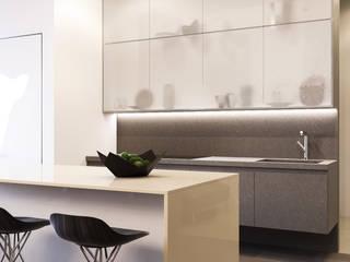 Minimalist kitchen by Kerimov Architects Minimalist
