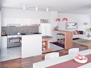 Vivienda PL Cocinas modernas: Ideas, imágenes y decoración de Proyectarq Moderno
