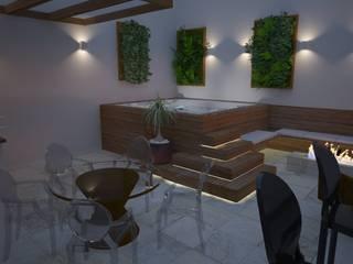 Balcones y terrazas de estilo moderno de Renata Romeiro Interiores Moderno